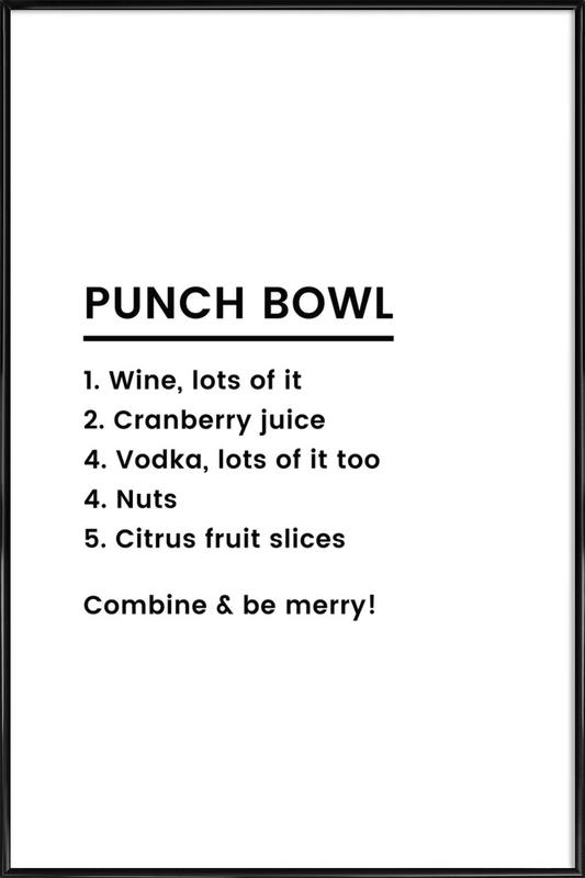 Punch Recipe poster con cornice
