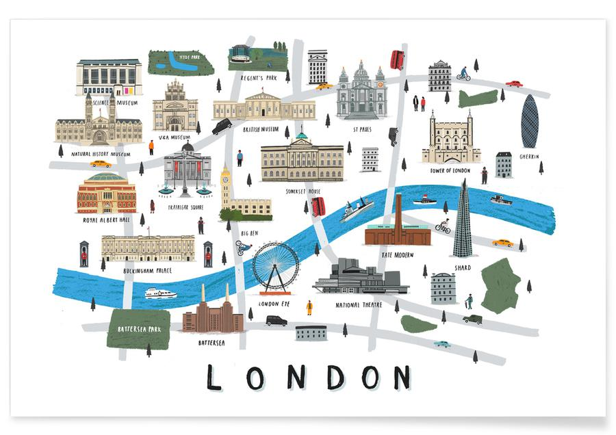 London Map -Poster