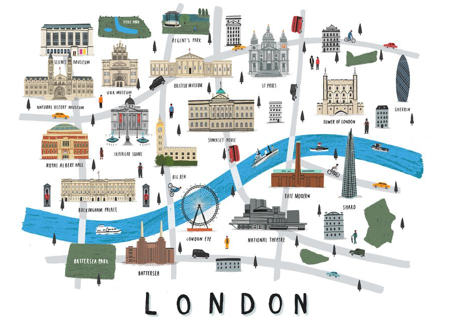 London Map toile