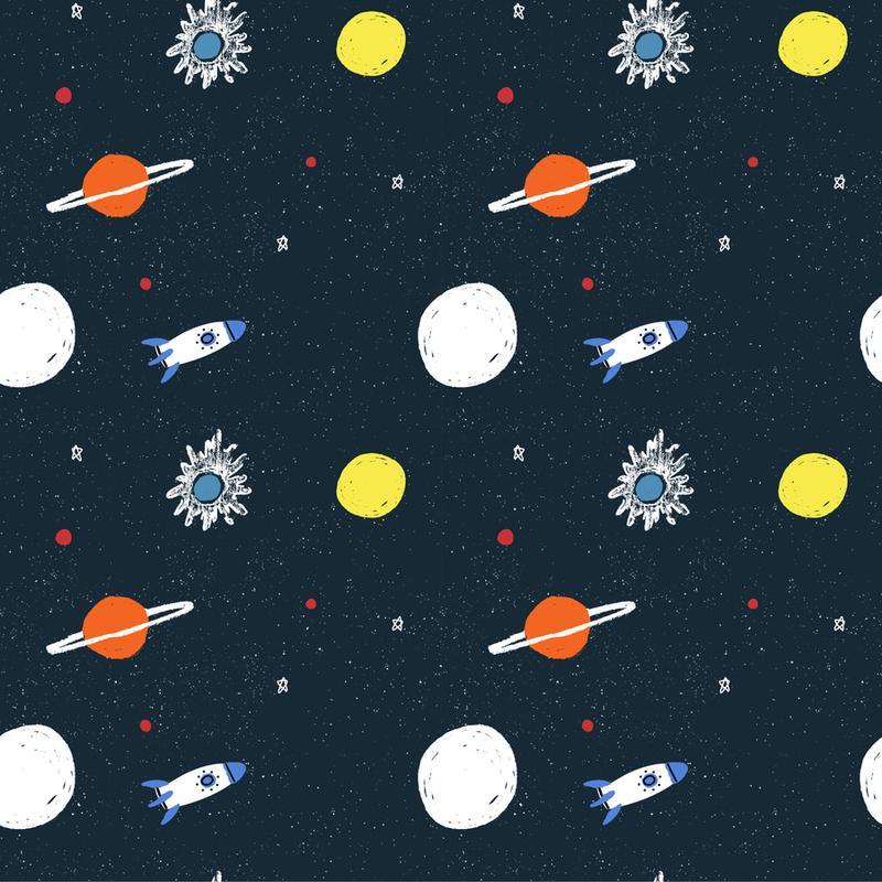 Planets Pattern -Leinwandbild