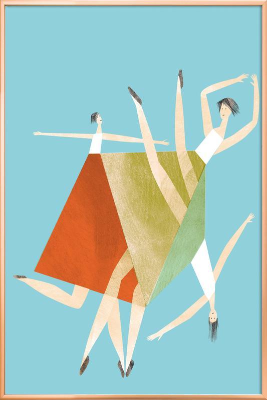 Dancing Blue -Poster im Alurahmen