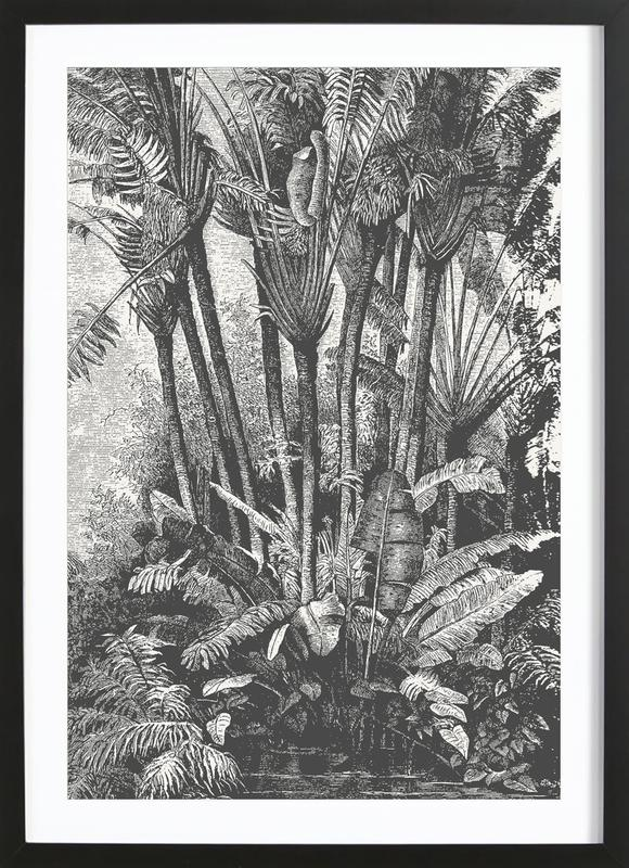 Palms in Water Framed Print