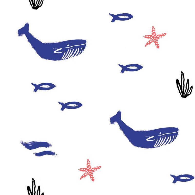 Whale Underwater -Alubild