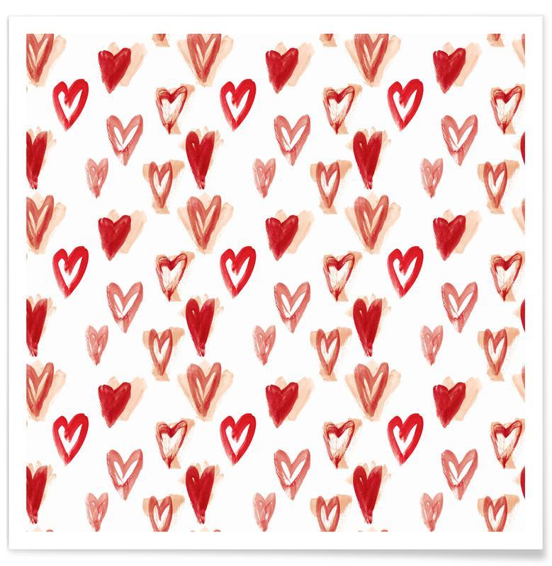 Raining Hearts Poster