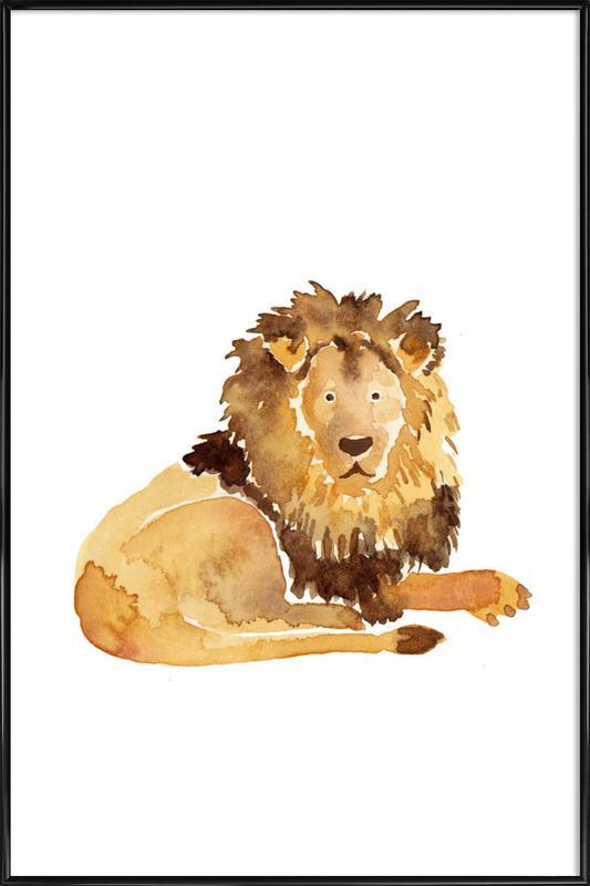 Lion affiche encadrée
