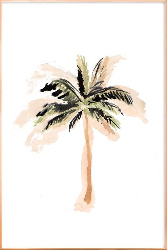 Palm Tree 3 Poster in Aluminium Frame