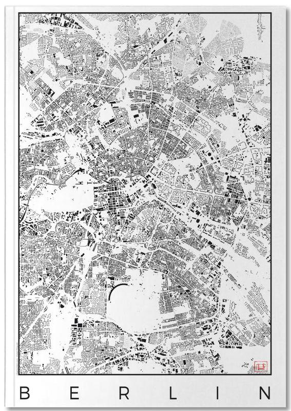 Berlin Map Schwarzplan Notebook