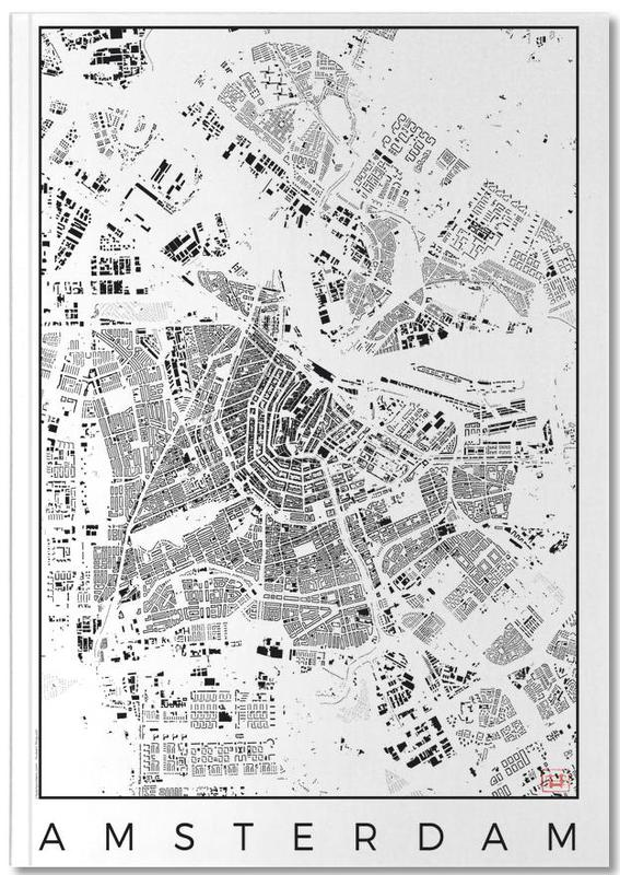 Amsterdam Map Schwarzplan Notebook