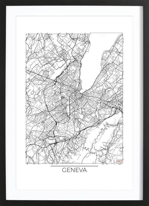 Geneva Minimal Framed Print