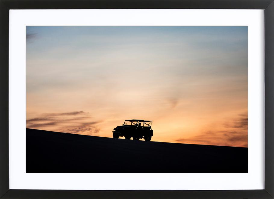Sunset Sillhouettes Framed Print