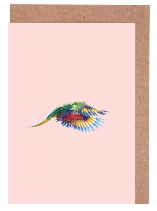 Pink Parrot 2 Greeting Card Set