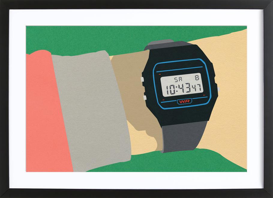 90s Watch -Bild mit Holzrahmen