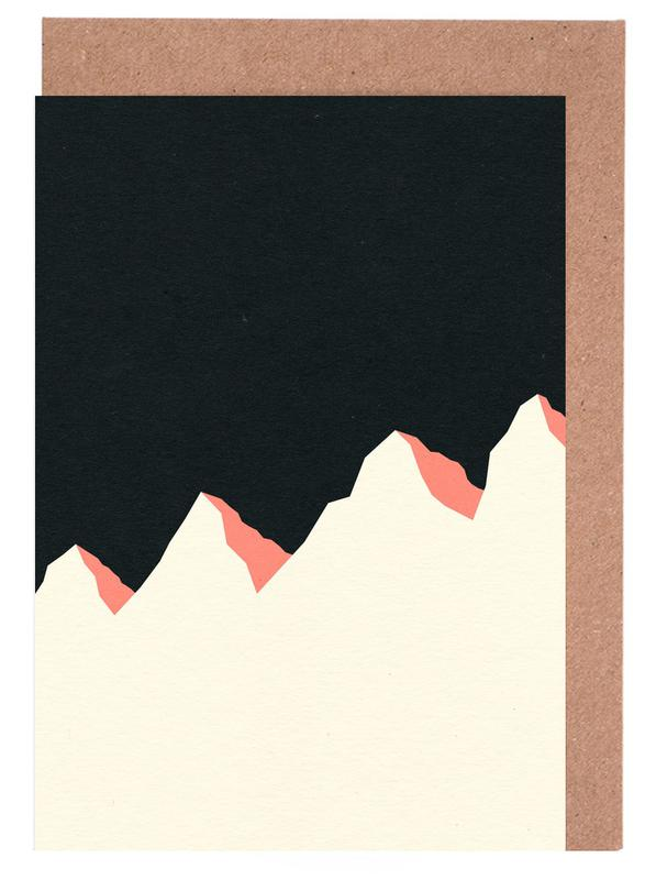 Dark Night White Mountains -Grußkarten-Set