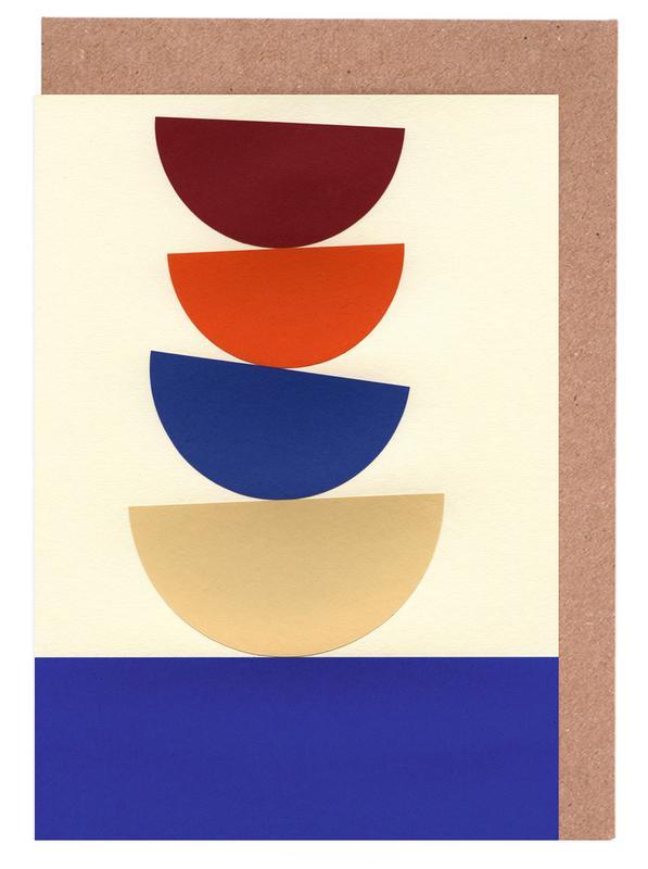 Four Bowls -Grußkarten-Set