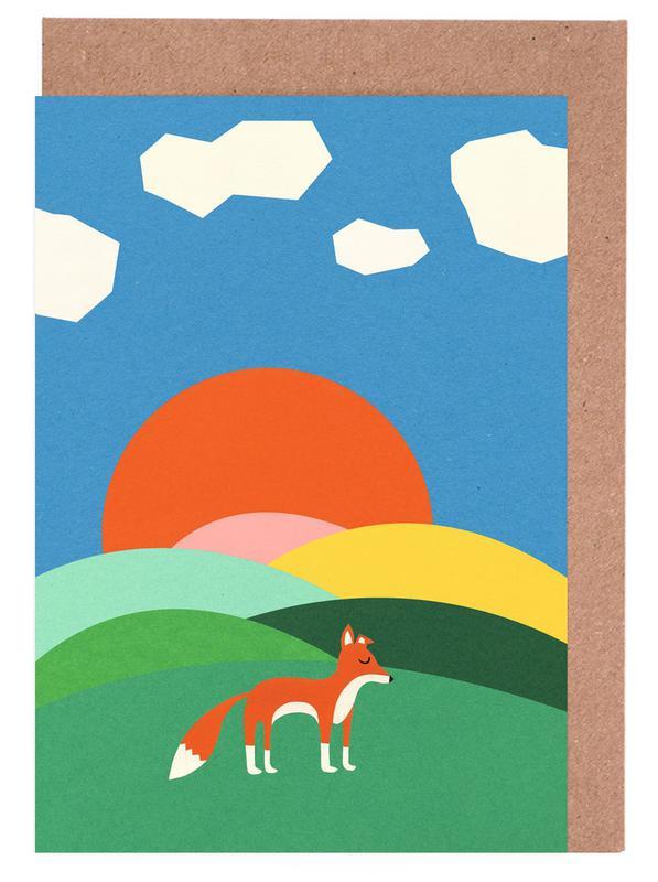Fox and Field -Grußkarten-Set