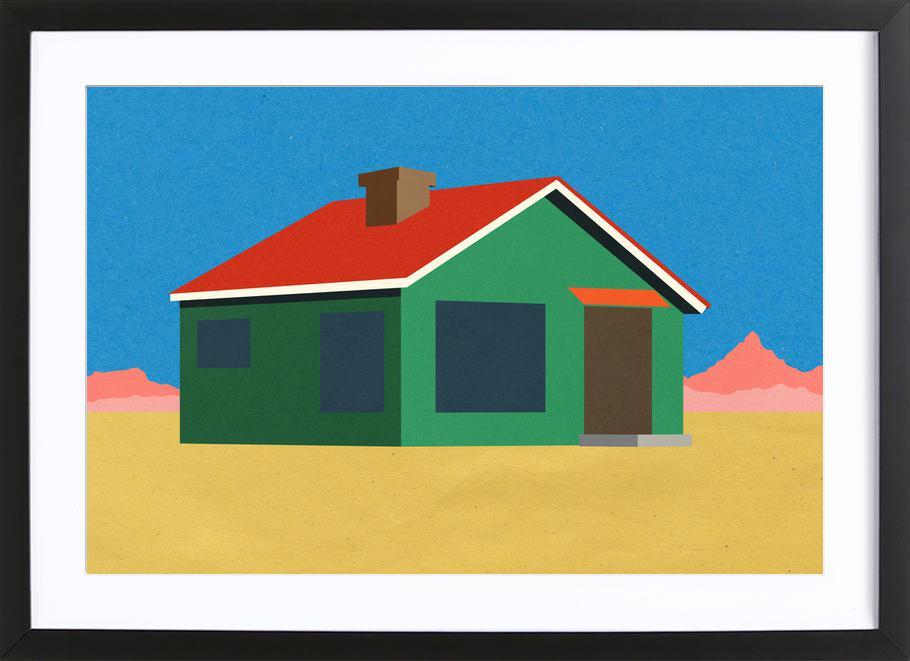 Joshua Tree House -Bild mit Holzrahmen
