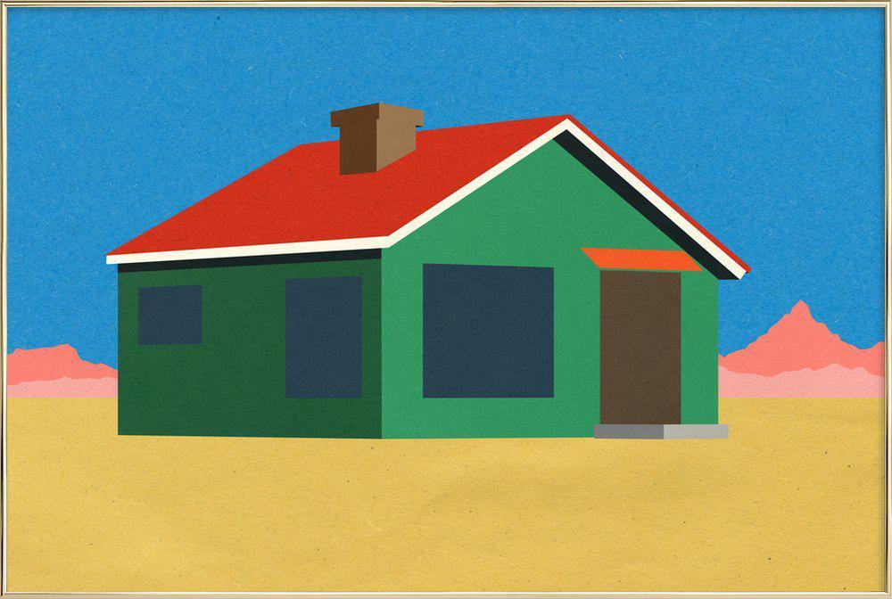 Joshua Tree House -Poster im Alurahmen
