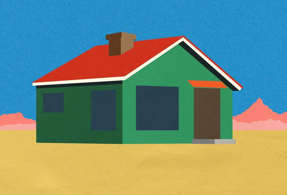 Joshua Tree House -Acrylglasbild