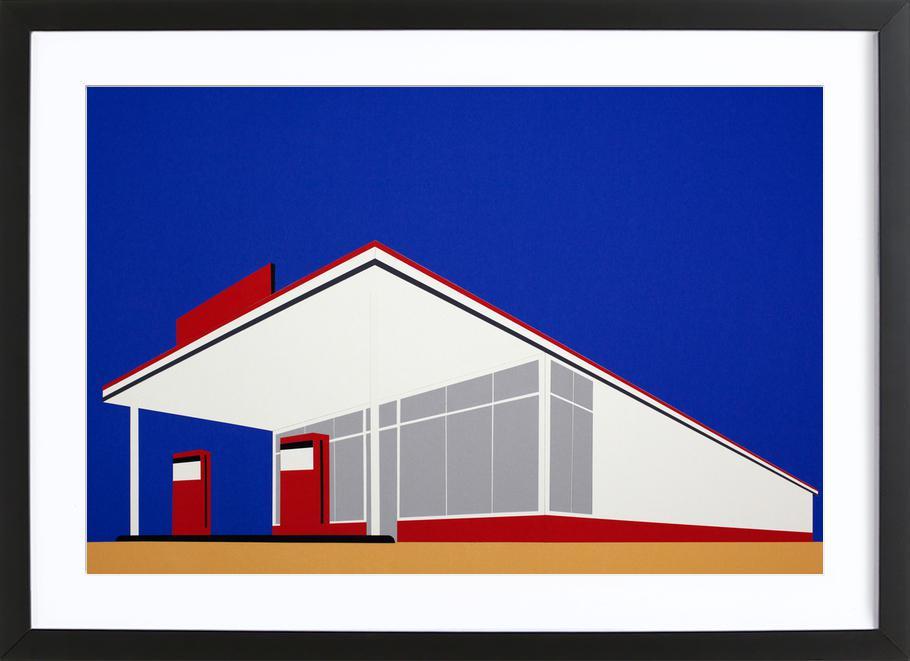 Gas Station 27 Framed Print