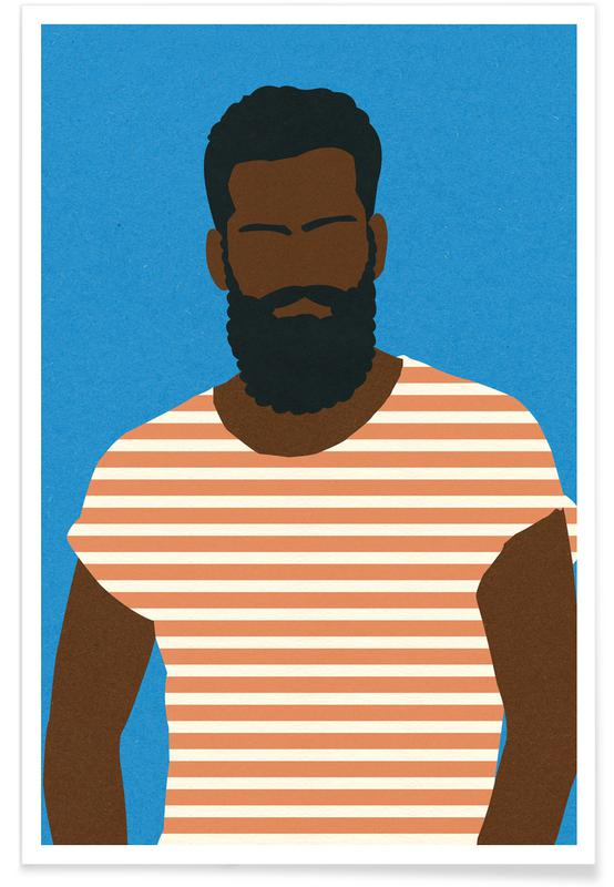 Man with Striped Shirt -Poster