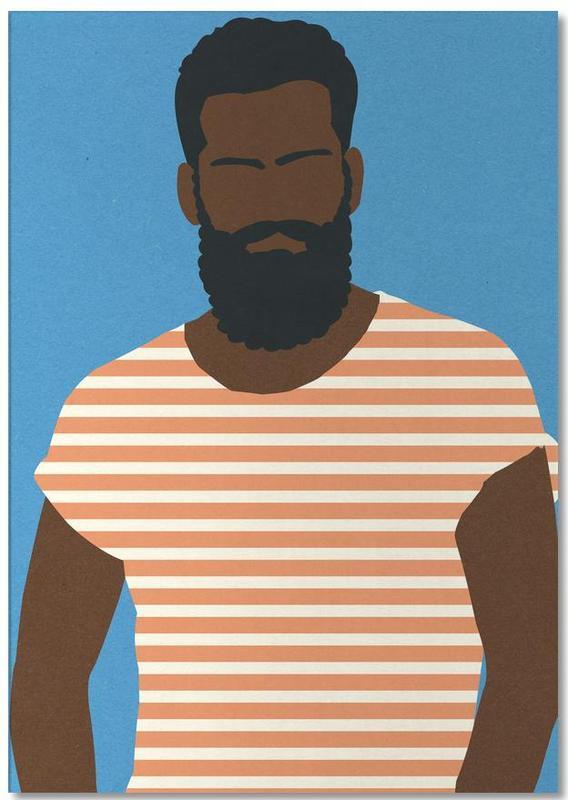 Man with Striped Shirt -Notizblock
