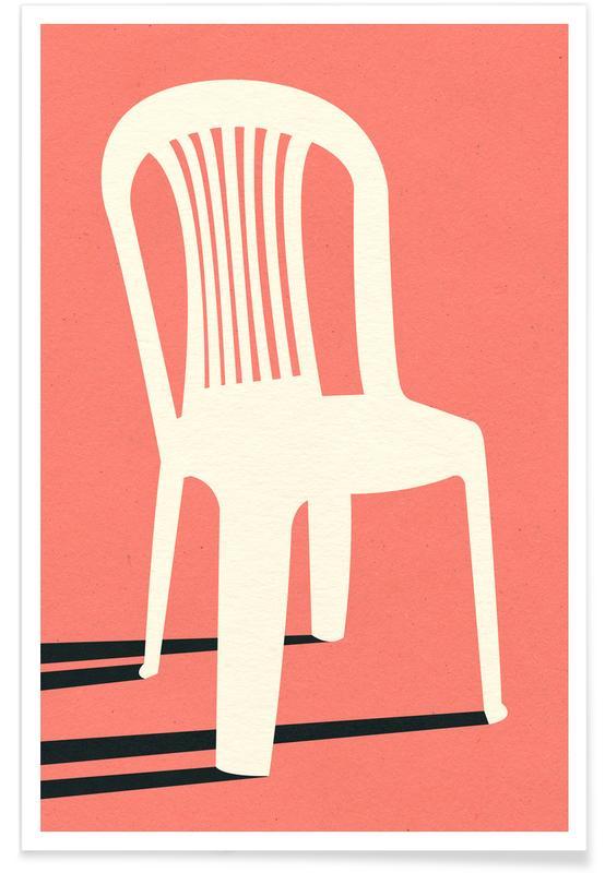 Monobloc Plastic Chair No I -Poster