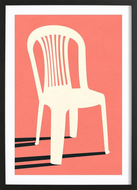 Monobloc Plastic Chair No I -Bild mit Holzrahmen