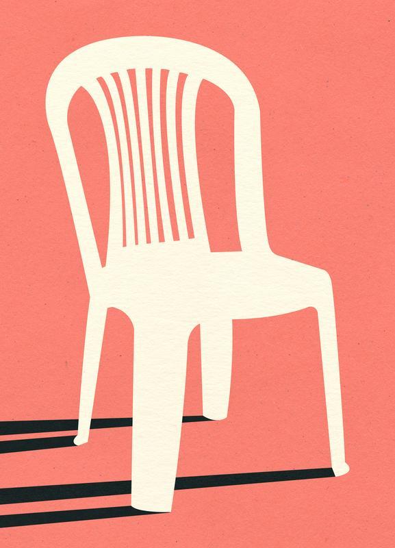 Monobloc Plastic Chair No I toile