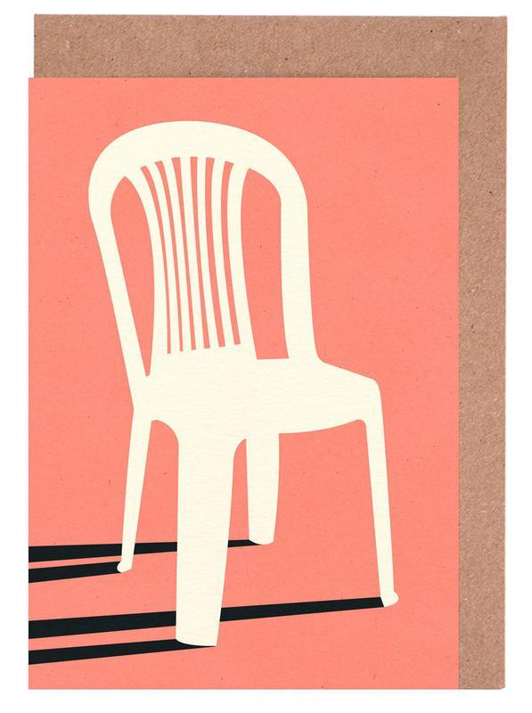 Monobloc Plastic Chair No I -Grußkarten-Set