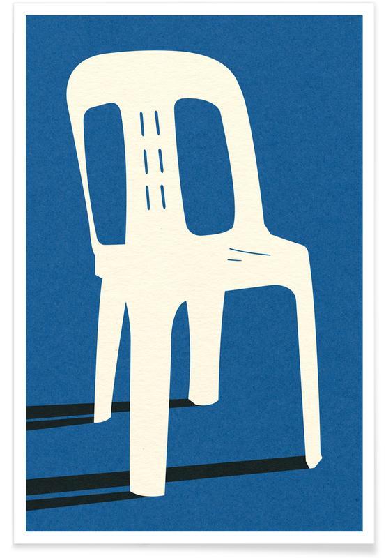 Monobloc Plastic Chair No II -Poster