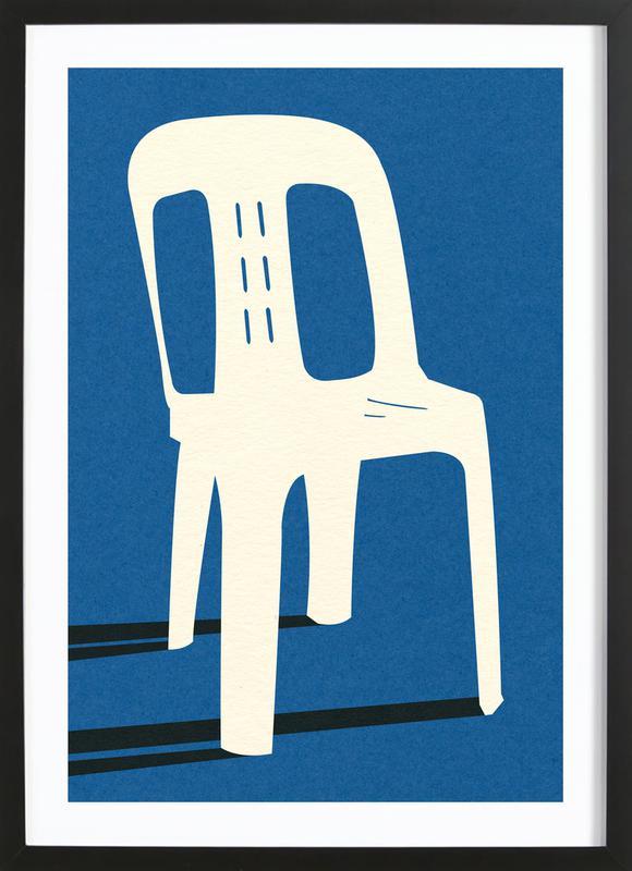 Monobloc Plastic Chair No II affiche sous cadre en bois