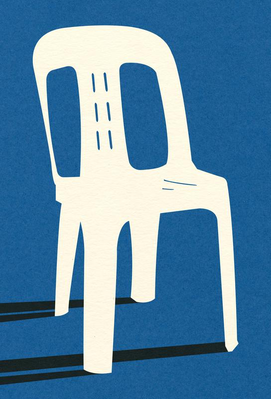 Monobloc Plastic Chair No II -Acrylglasbild