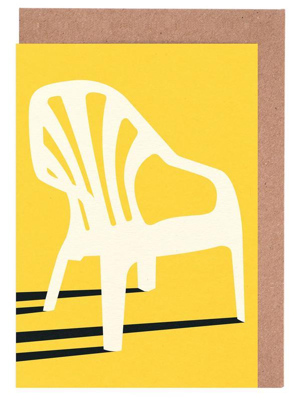 Monobloc Plastic Chair No VI -Grußkarten-Set