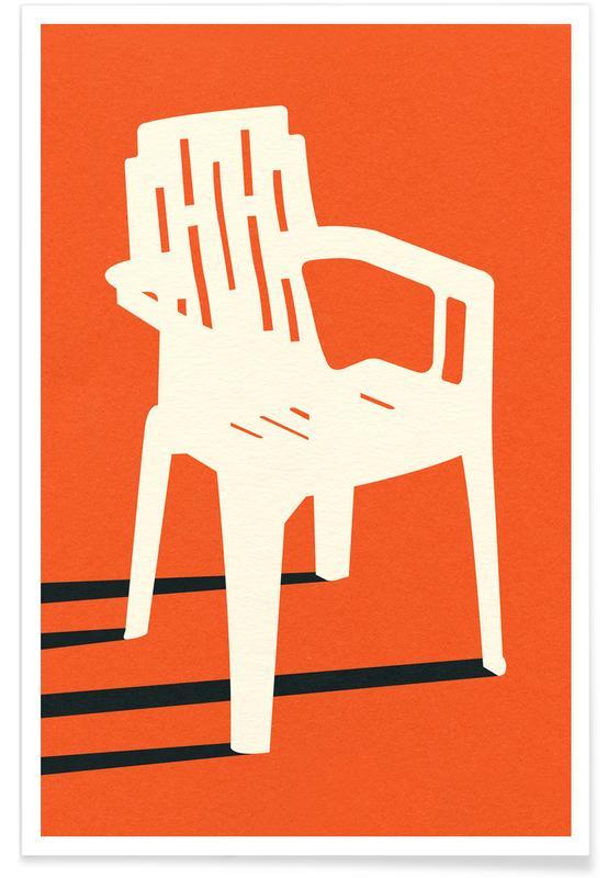 Monobloc Plastic Chair No VII Poster