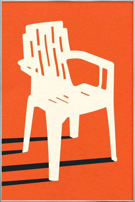 Monobloc Plastic Chair No VII -Poster im Alurahmen