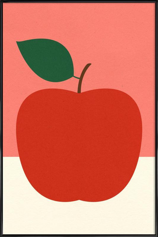 Red Apple -Bild mit Kunststoffrahmen