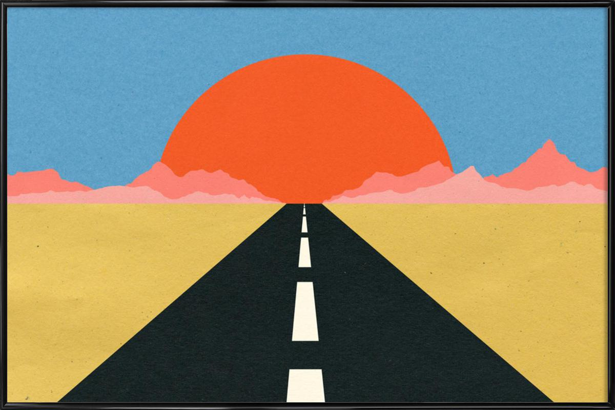 Road to Sun Framed Poster