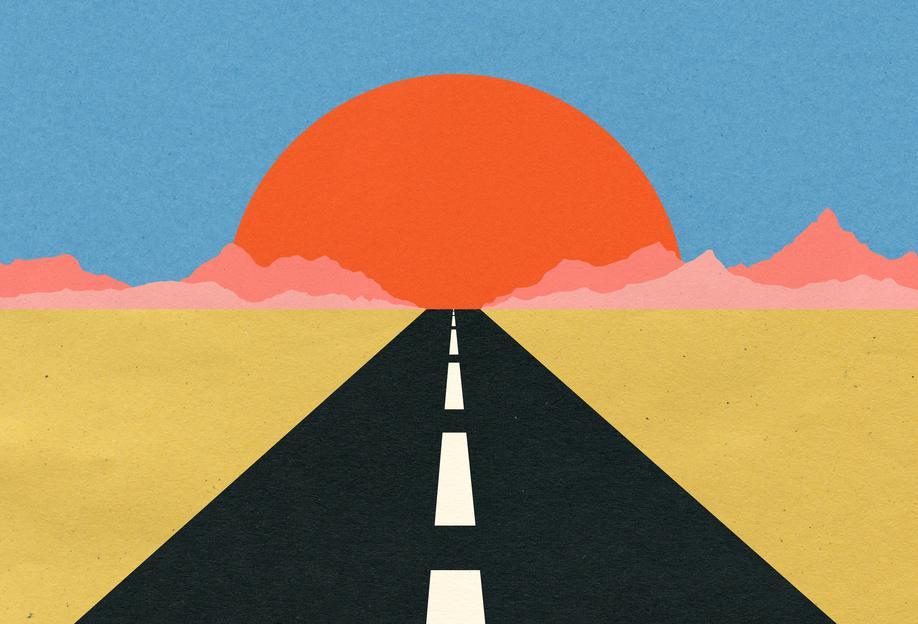 Road to Sun Acrylic Print