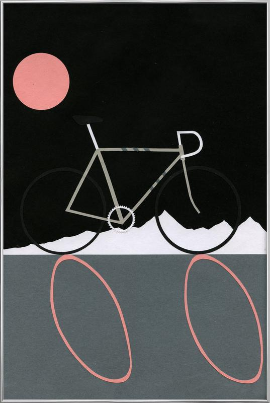 Tour de Noir Poster in Aluminium Frame