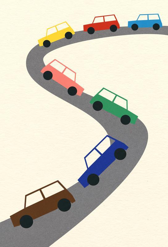 Traffic acrylglas print