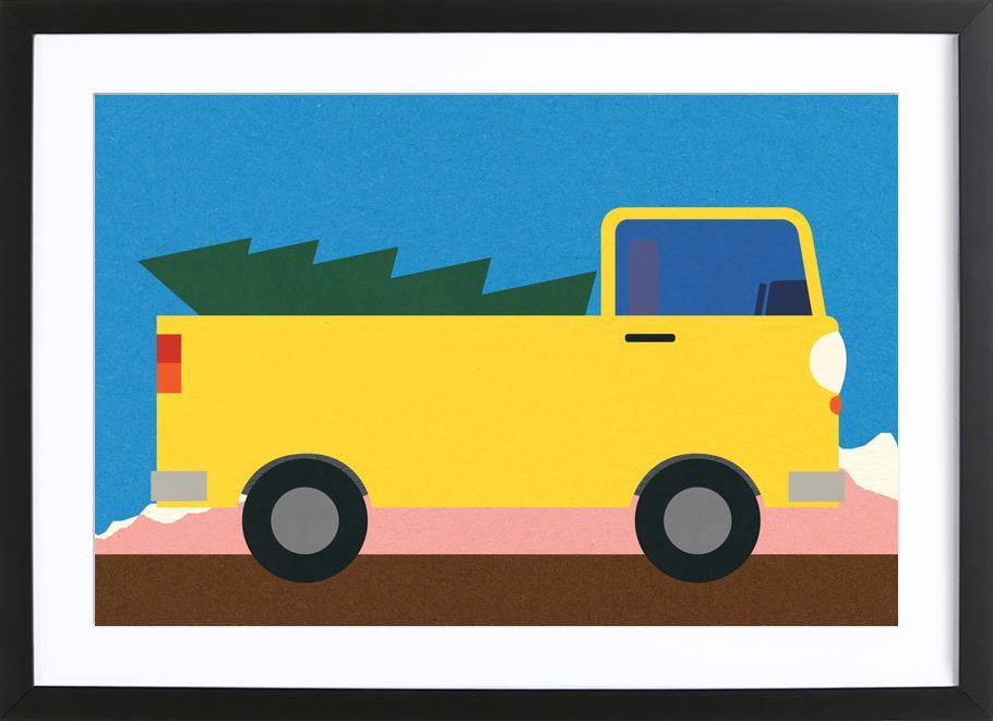 Truck & Tree Framed Print