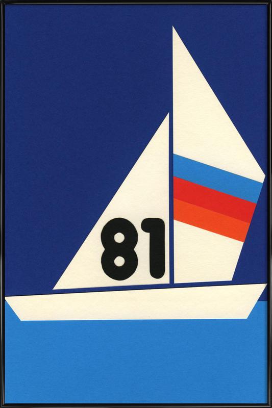 Sailing Regatta 81 affiche encadrée