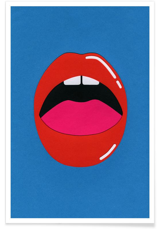 Red Lips -Poster
