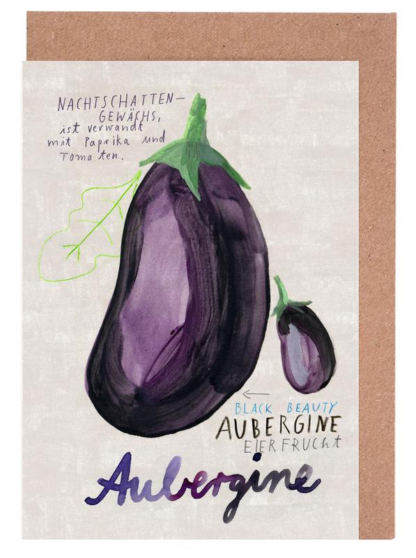 Aubergine Greeting Card Set