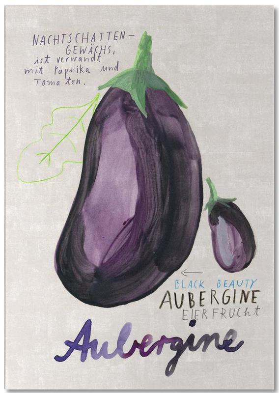 Aubergine -Notizblock