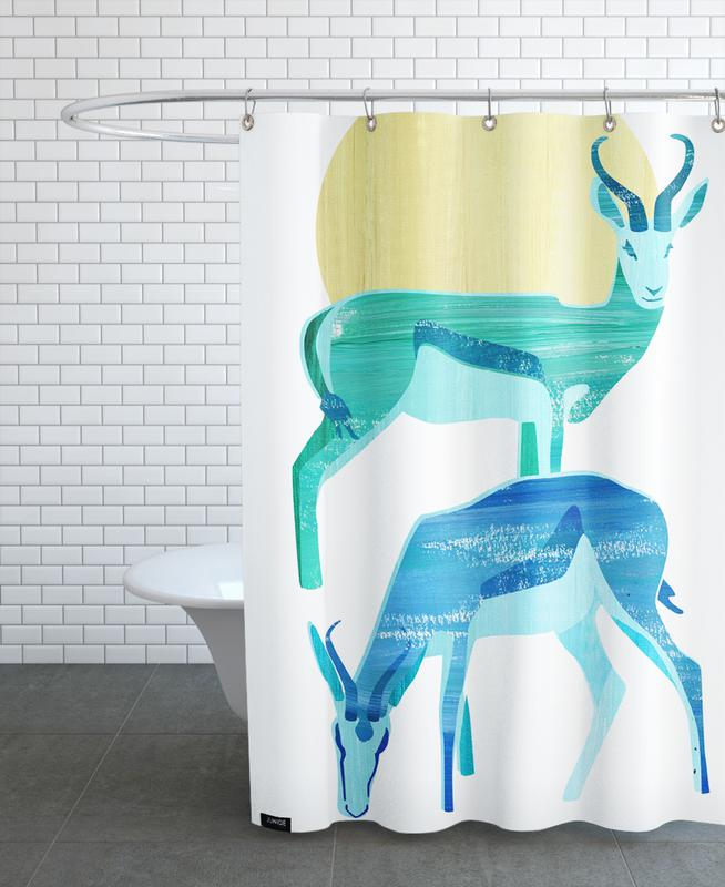 Antilopes in the sun -Duschvorhang