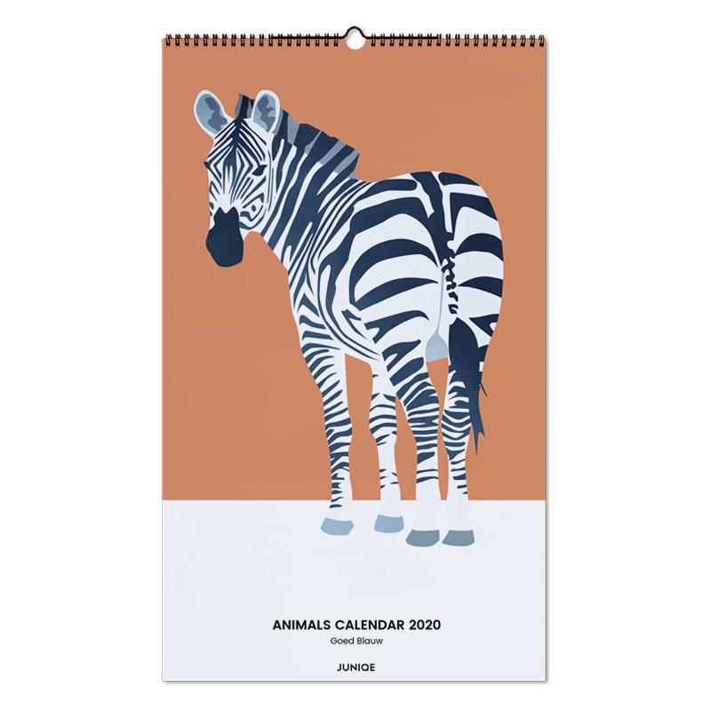 Animals Calendar 2020 - Goed Blauw Wall Calendar