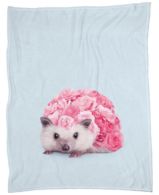 Hedgerosehog Fleece Blanket