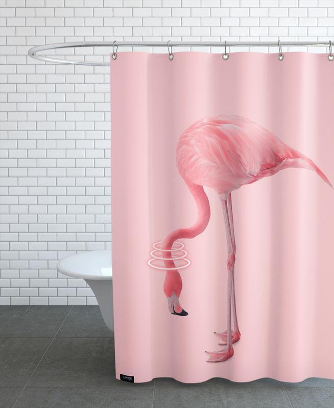 Neon Flamingo Shower Curtain
