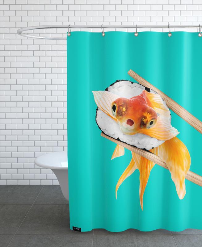 Sushi Goldfish Shower Curtain